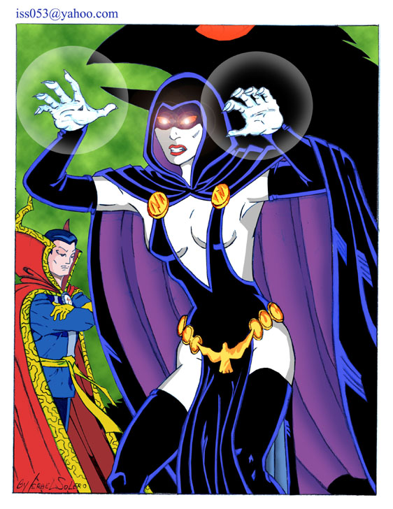 RAVEN and DR. STRANGE (clr) by jira