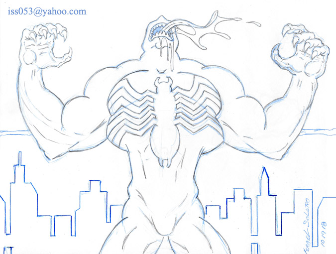 Venom (outline study) by jira