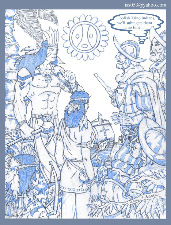 Taino/Arawak: When Evil Arrives (pencil) by jira