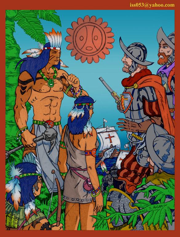 Eradication of the  Arawak/Taino Indians (clr) by jira