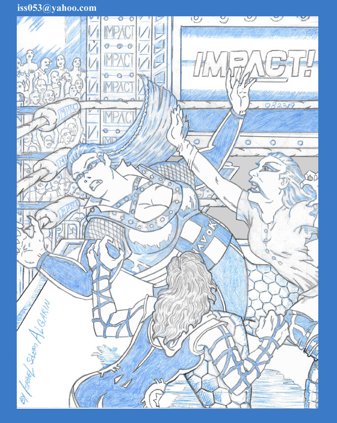 IMPACT' WRESTLINGt: HAVOK, SU YUNG and ROSEMARY (pencil) by jira