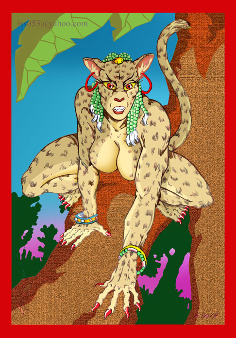 LEOPARD-WOMAN (colored) by jira
