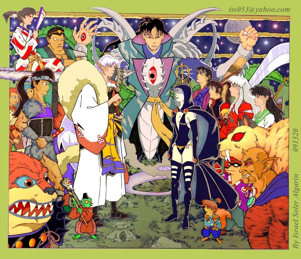 Lord Sesshomaru/Inuyasha with Raven/Etrigan vs Naraku Ultimate Evil (co by jira