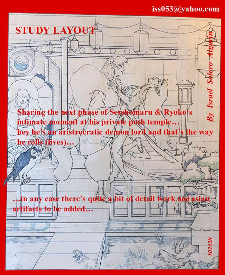 The lord Sesshomaru (study layout) by jira