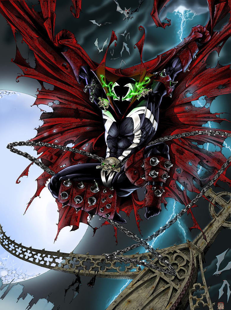 My First Photoshop Colored Spawn pic by joenes