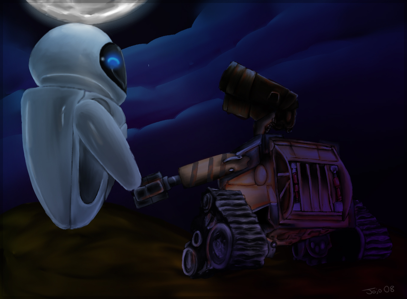 Holding Hands - WALL-E by jojouk