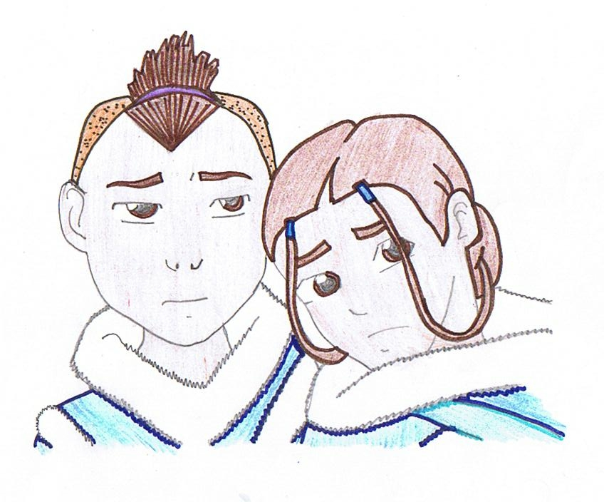 sokka and katara by joline