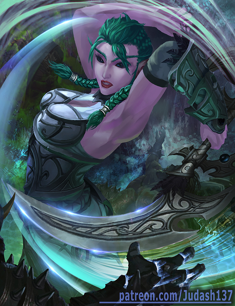 Tyrande Night warrior by judash137