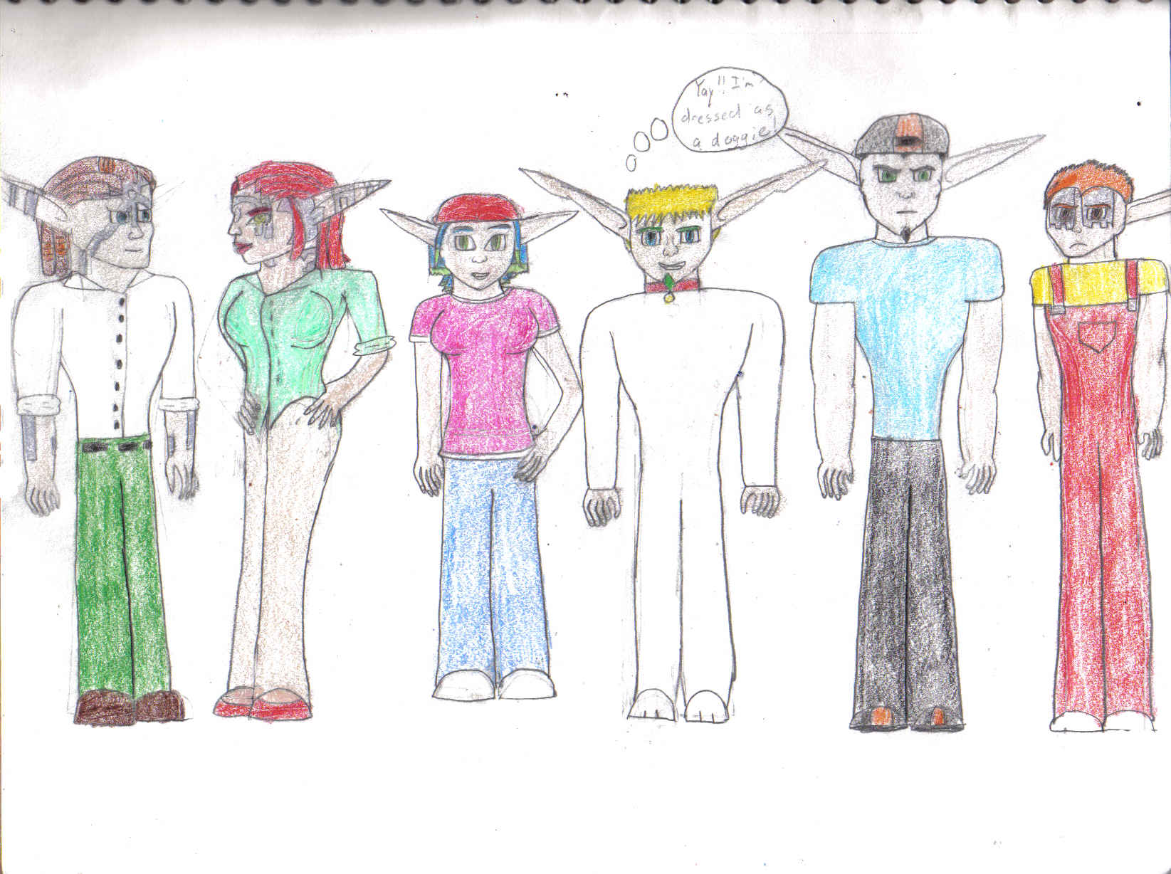 Jak Characters Dressed As The Family Guy Characters by jusedr