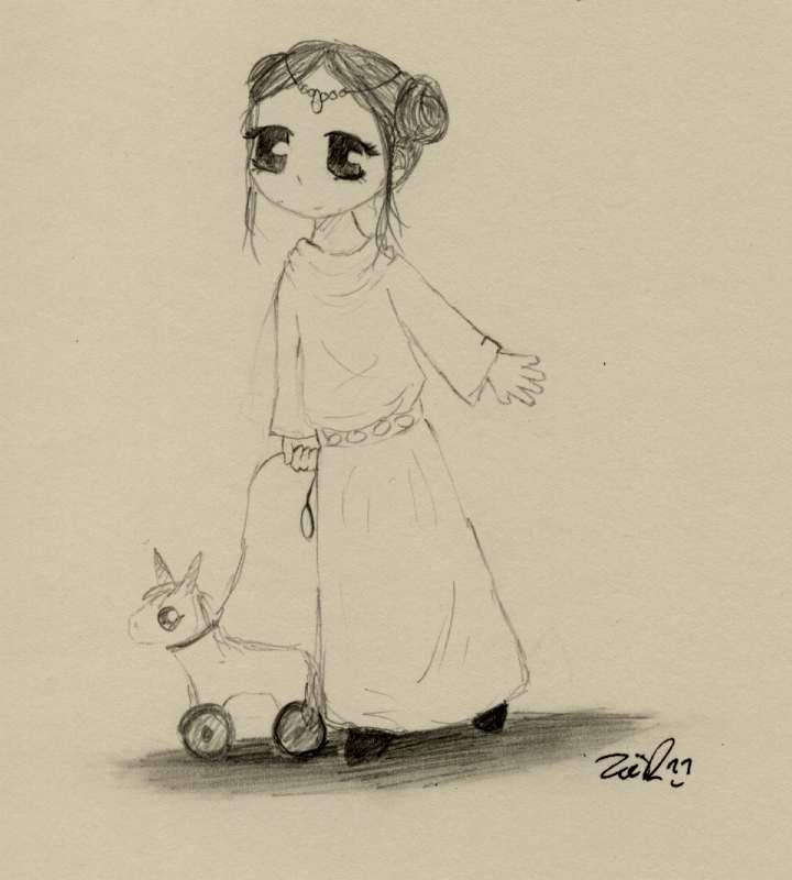 Little Leia by Kaede-chan