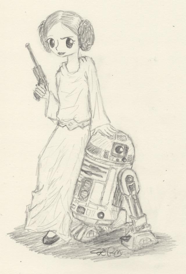 Nyaha, Leia and R-2 by Kaede-chan