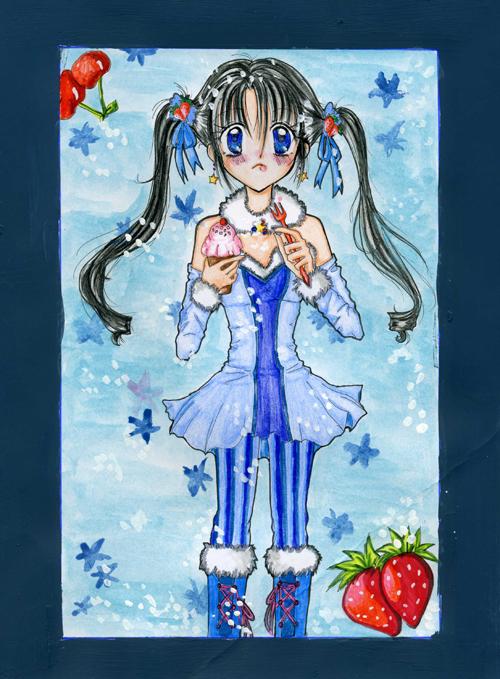 Blue Cupcakes by KagomeHigurashi