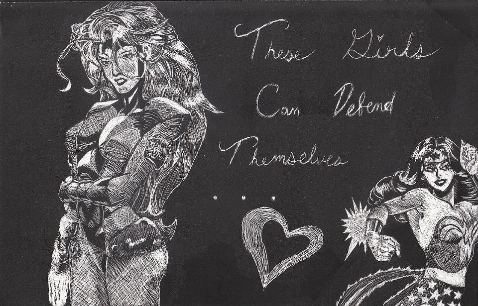 Jean Grey(Marvel) and Wonder Woman(DC) by KagomeTheArcher