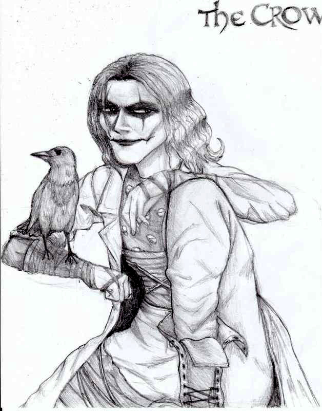 The Crow in my Drawing Style (Brandon Lee Version) by KagomeTheArcher