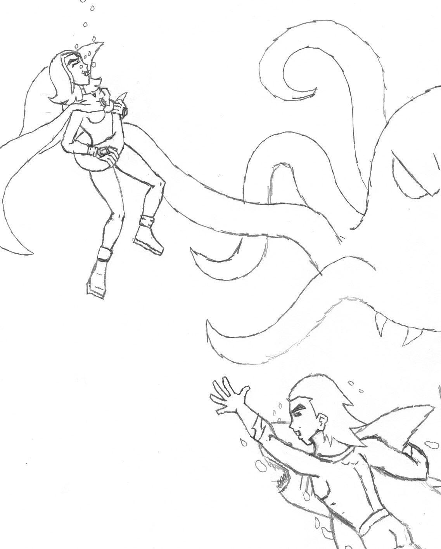 Under the Sea Rescue (Request for sesshy_lil_gurl) by Kairukurumi