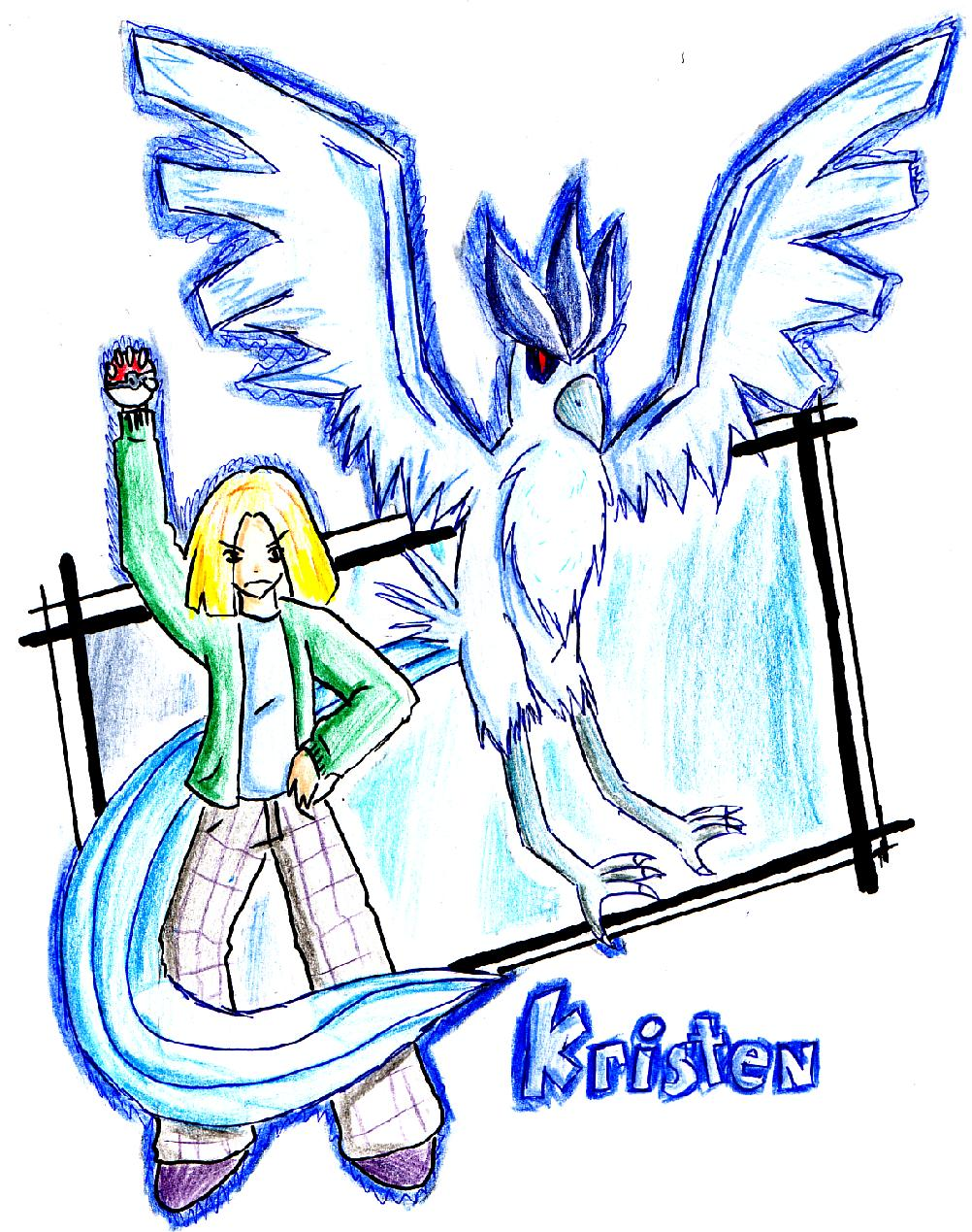 Kristen and Articuno by Kalidah
