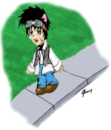 Chibi John (Colored) by KamiAkai