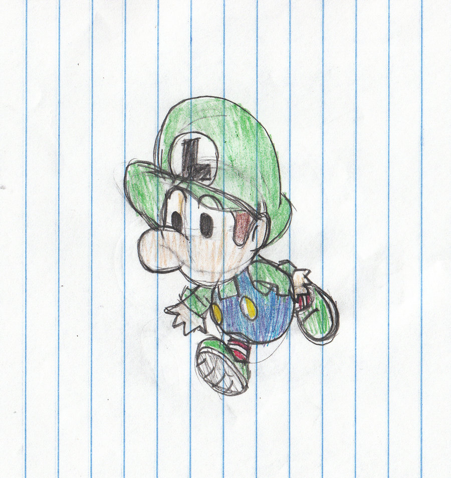 Baby Luigi by Kari-1994