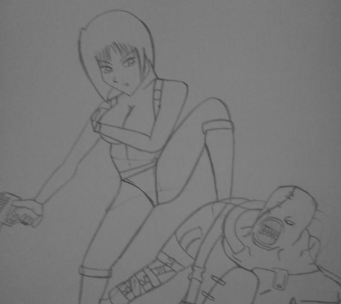 Nemesis & Jill Sketch by KathanKratz