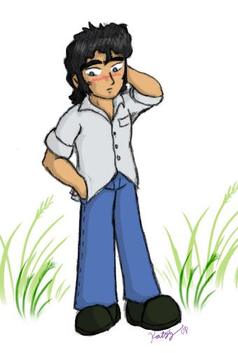 Aww, he's shy-colored by Katzy_Pawe