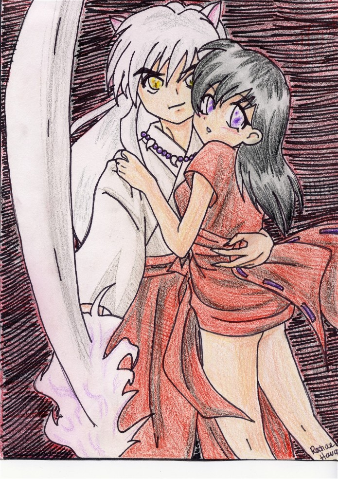 Inuyasha and Kagome by Kawaii_Kimimaro
