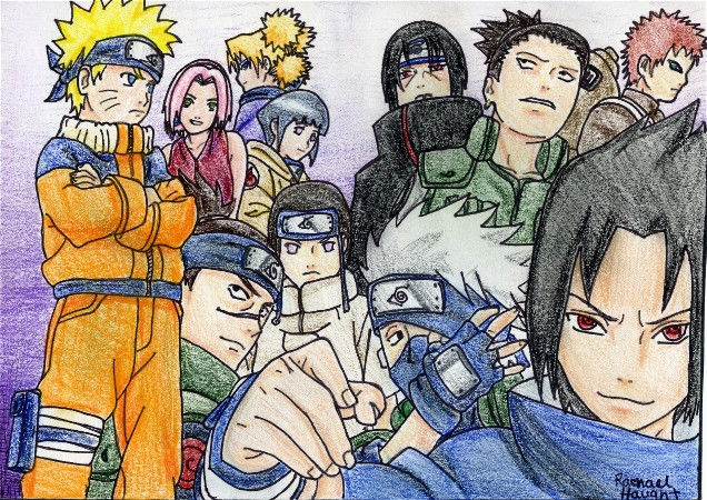 The Naruto Gang by Kawaii_Kimimaro