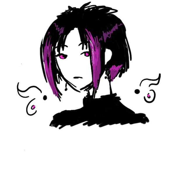 Purple Emo Boy by Keesh