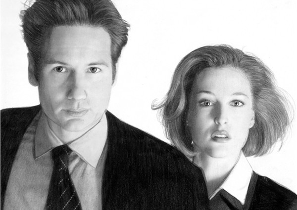 Mulder and Scully by Kelownan