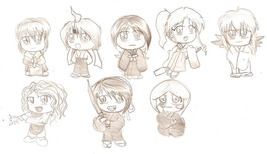Lil' Anime Chibi Dolls!(Each Sold Seperately) by KenshinJennings