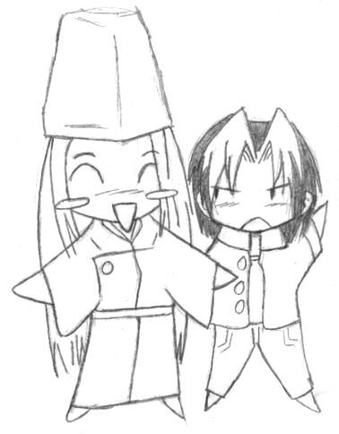 Sai and Hikaru dolls by Kisa-chan
