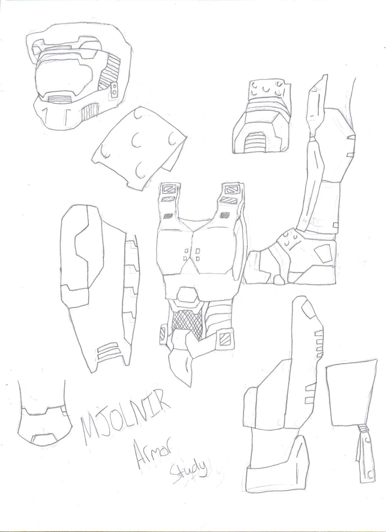 MJOLNIR armor study by KisaShika
