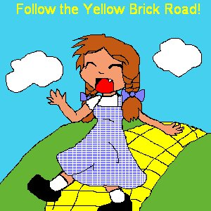 Follow the Yellow Brick Road! by KitsuneGirl