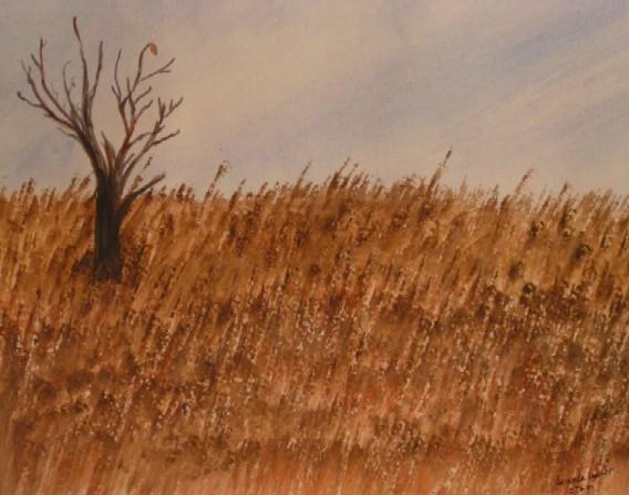 Watercolor Field by Kittyku1189