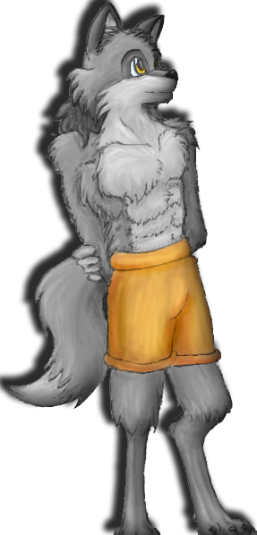 Wolf In Shorts by Kitzy