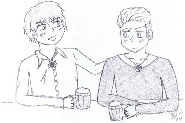 Drinking Buddies ~ :Request for DemonChild92: by Kocho