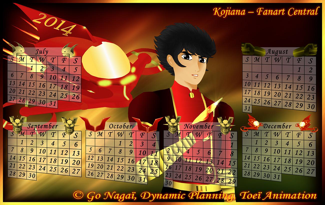 Calendar Mazinger Z 2014 (2) by Kojiana