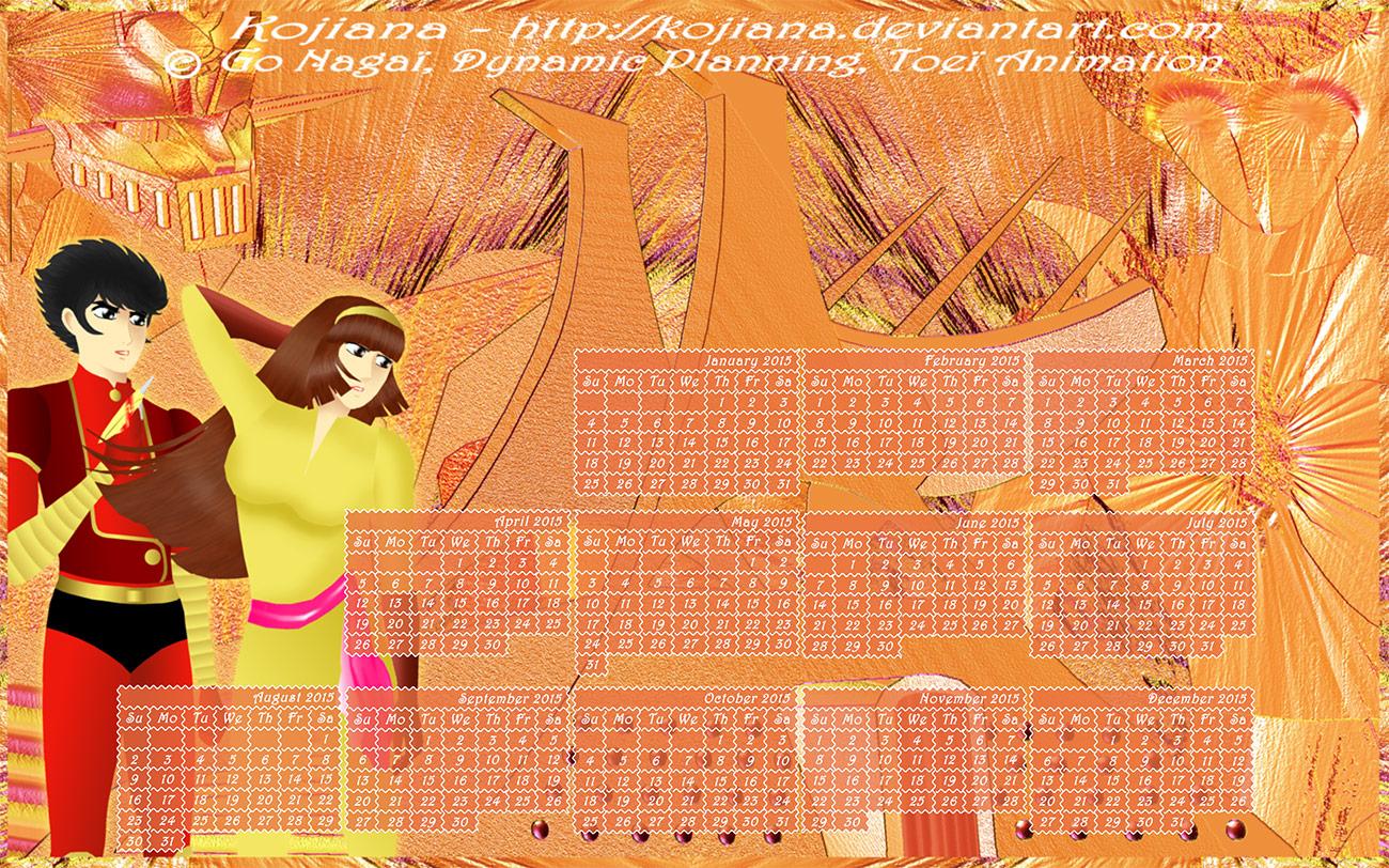 Calendar Mazinger Z 2015 (2) by Kojiana