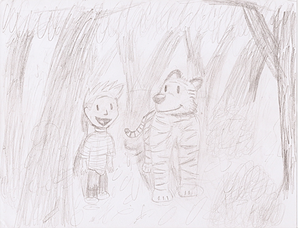 Calvin and Hobbes (Rough) by Kooldude