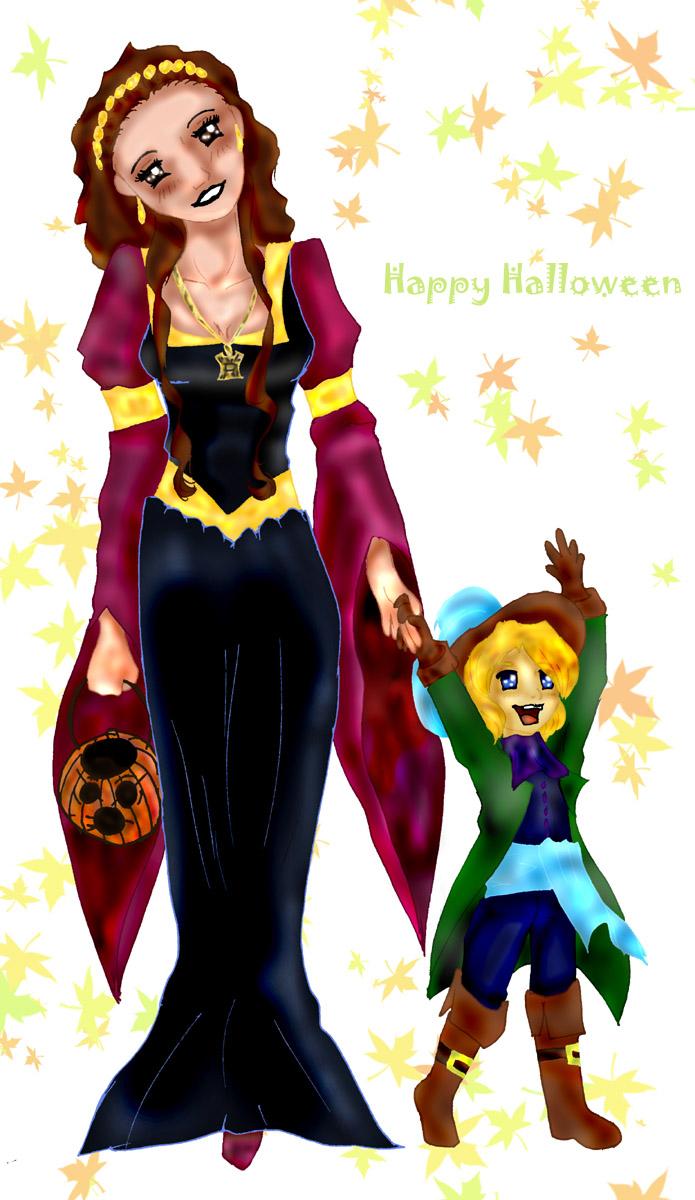 *Halloween* Padme_Luke by Koutenka
