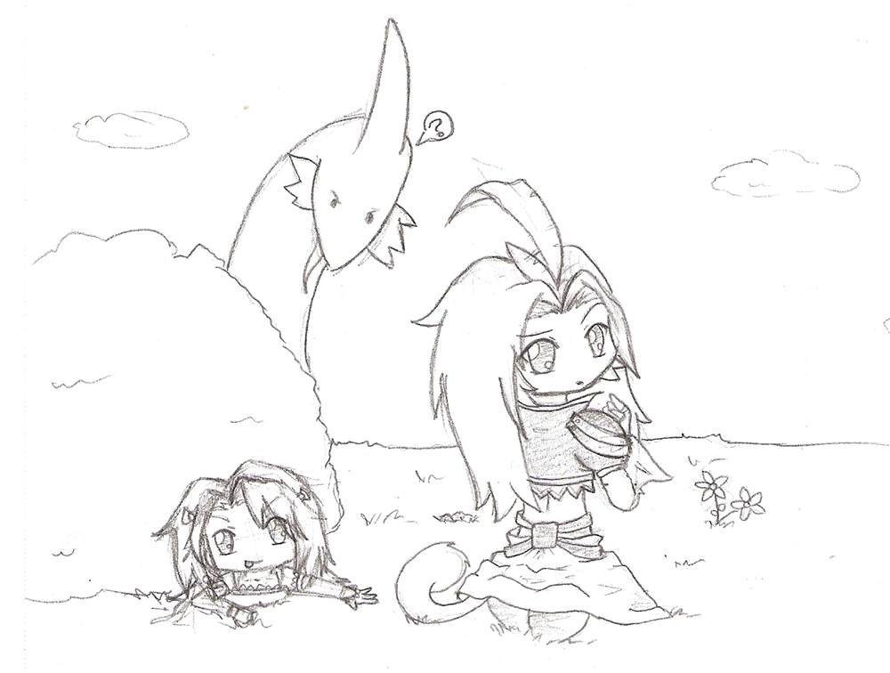 I want to pull Kuja's tail! by Kujachanxoxo