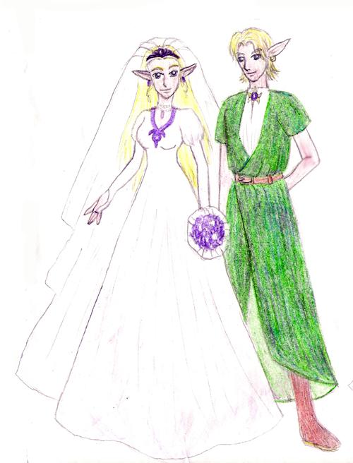 Wedding 6 Link and Zelda by Kurama Lover Otaku Bunny