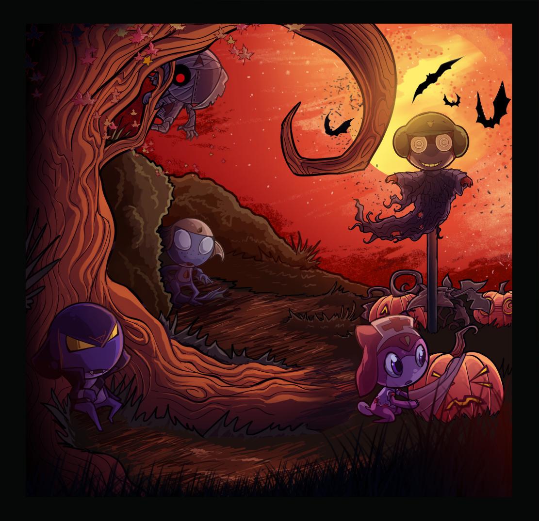Happy Garuru Halloween by Kururu