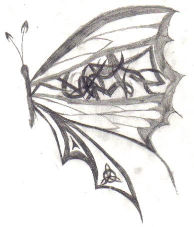 Celtic butterfly by KyiNekoYasha