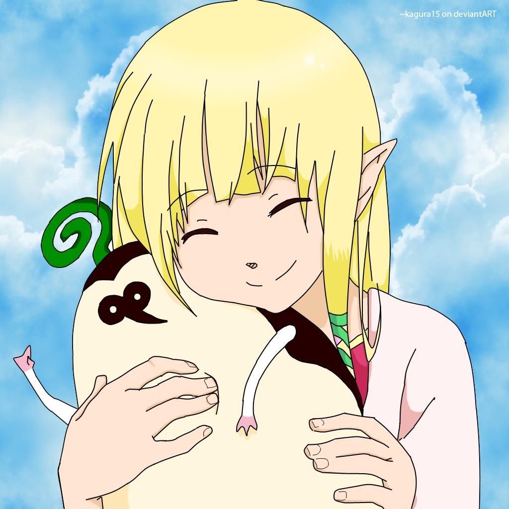 Sky Zelda with a Kikwi by kagura15