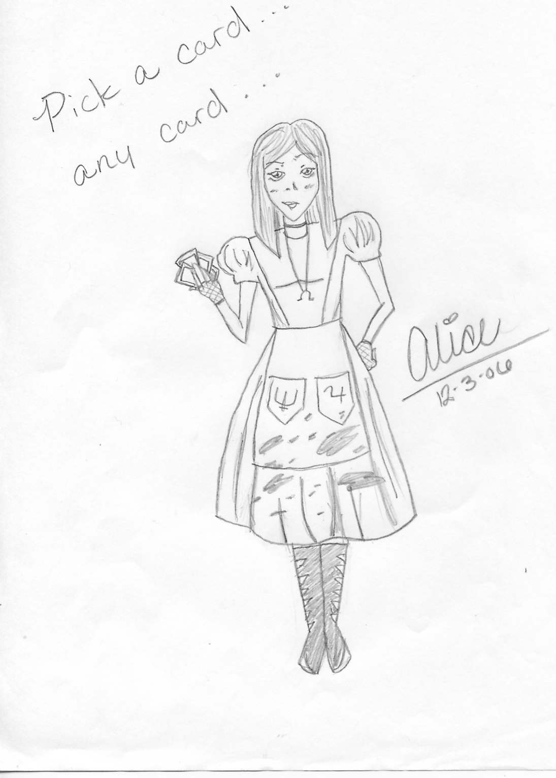 Alice, pick a card by kairiluvsora101