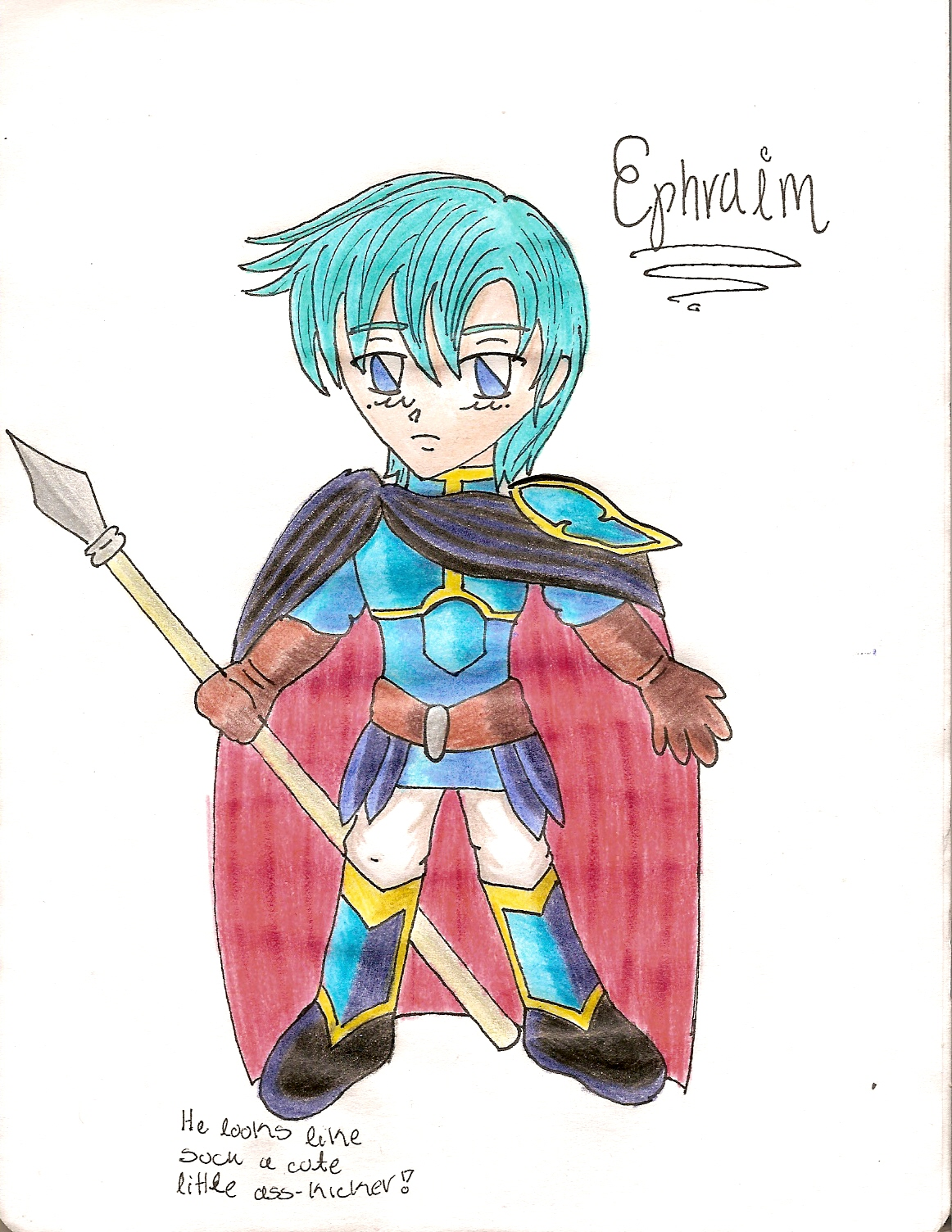 Butt Kicking Chibi Ephraim by kamatari17