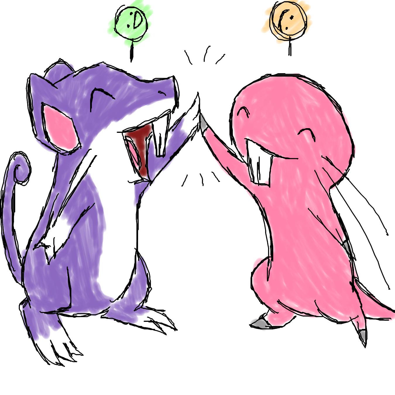 Rattata and Rufus by kamoku_hito