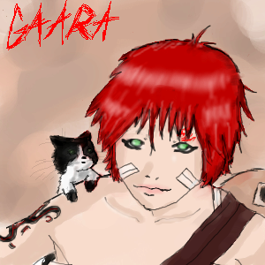 Gaara...and his CAT?! by katara719
