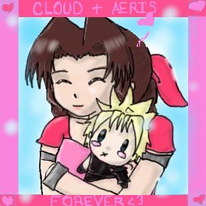 Cloud + Aeris Forever by katara719