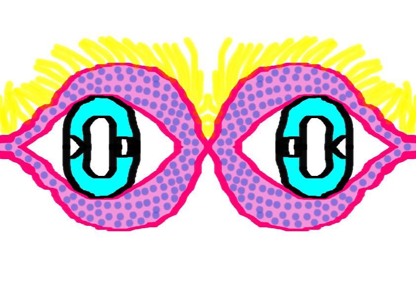 my digimon oc's eyes through a mask by katieXatem